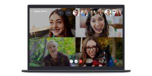 Skype group call screenshot